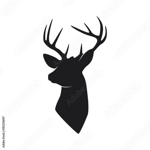Fotografia, Obraz silhouette head deer