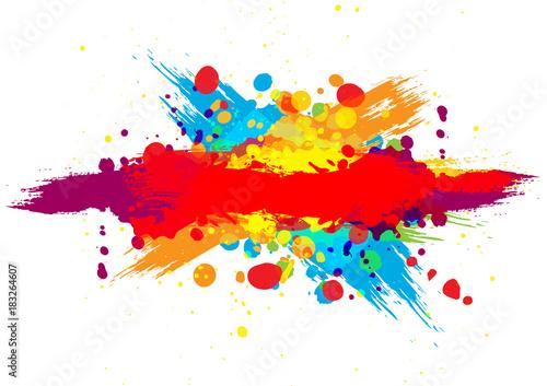 abstract vector splatter color background Obraz na płótnie