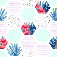 FototapetaAbstract summer hexagon shapes seamless pattern