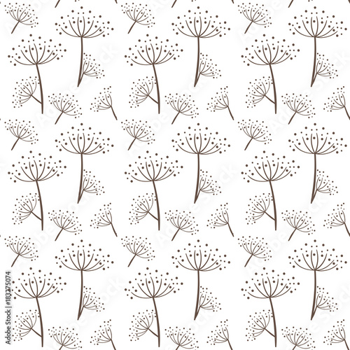 Seamless pattern in scandinavian style Wallpaper Mural