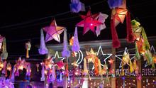Stars Christmas Day In Sakon Nakhon,Thailand.