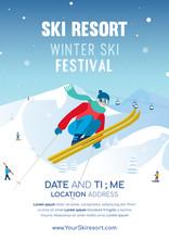 Winter Ski Festival Poster Inv...