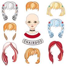 Hair KREATOR. Girl. Avatar.