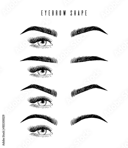 Eyebrow shaping for women face makeup Fototapeta