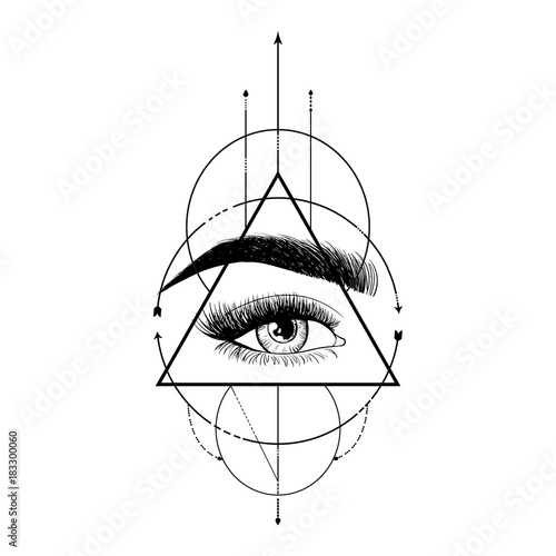 Tattoo Art Sketches Eye And Pyramid
