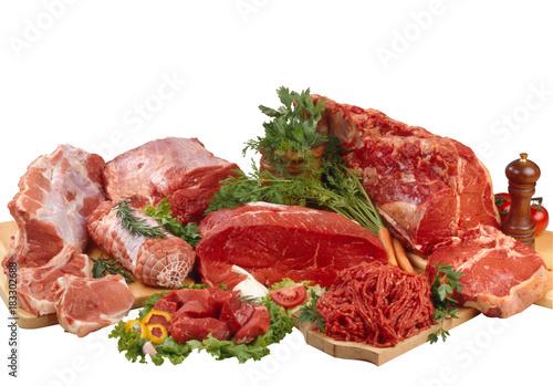 Carni crude di maiale e manzo