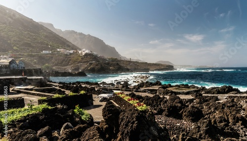 View of Garachico, old town of Tenerife, Spain