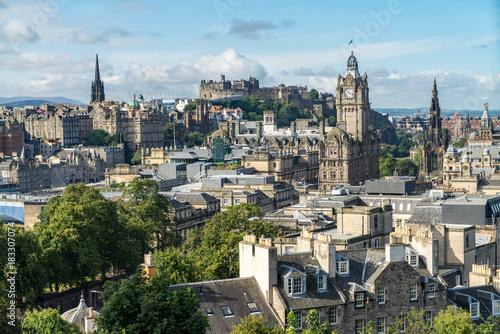 Obraz na dibondzie (fotoboard) Calton Hill z widokiem na Edynburg, Szkocja