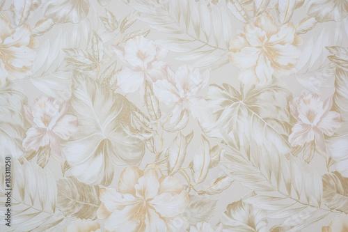 Poster Fleur Floral pattern wallpaper