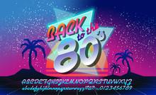 Back To The 80's. Retro Elemen...