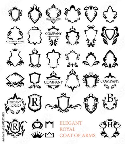 Photo Big set of Rotal Elegant Heraldic Blazons