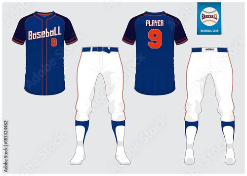 942d6a2d8ee Vector Illustration. By tondruangwit. Baseball uniform, sport jersey,  t-shirt sport, short, sock template.