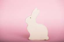 Wooden Rabbit. Easter. Fashion...