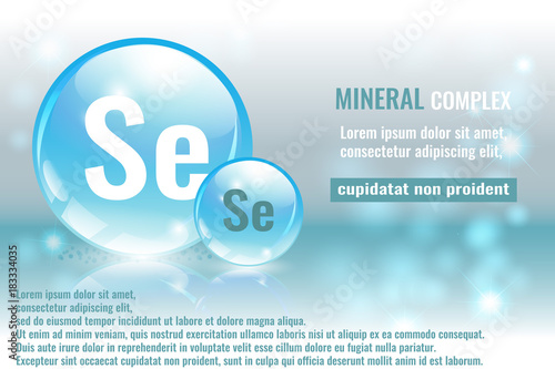 Mineral Se Selenium Complex With Chemical Element Symbol