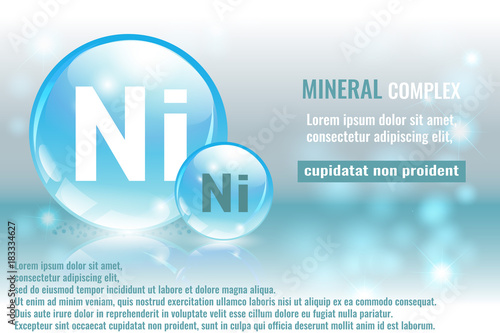 Mineral Ni Niccolum Complex With Chemical Element Symbol