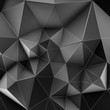 Abstract Low Triangular polygon shapes, triangles mosaic, poly design, creative black with line background. 3d rendering