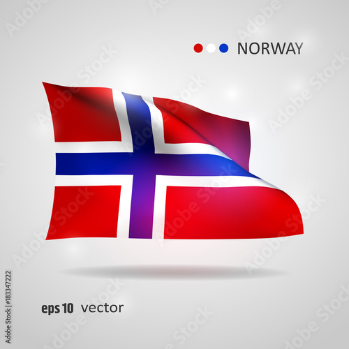 Photo  Vector flag of Norway