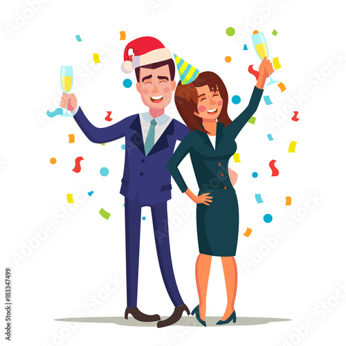Photo  Corporate Christmas Party Vector