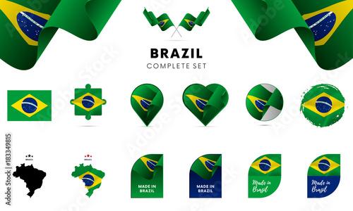 Brazil complete set. Vector illustration. Fotobehang