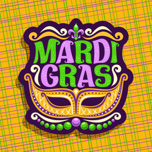 Vector Logo For Mardi Gras Car...