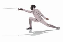 Illustration Of A Fencer , Vec...