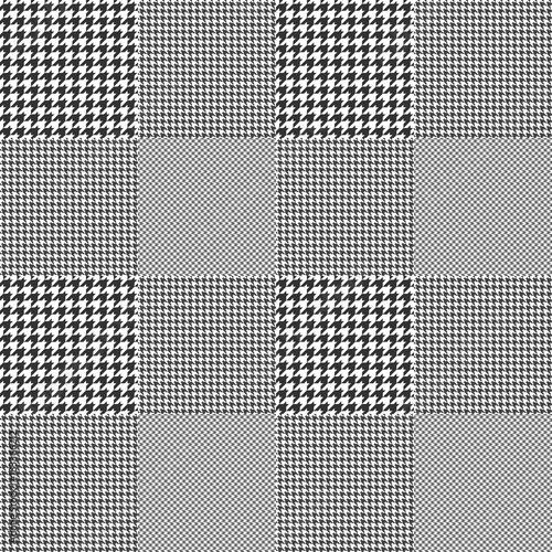 Photo  Prince of Wales check pattern. Seamless glen plaid vector print.