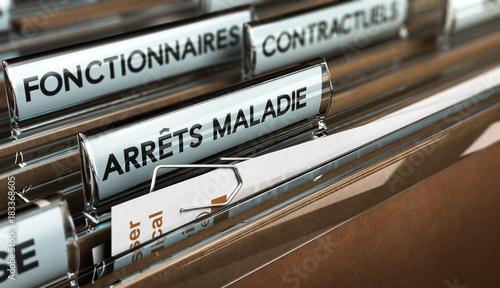 Congés ou Arrêt Maladie des Fonctionnaires dans la Fonction Publique Wallpaper Mural