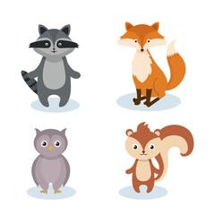 woodland animals wild icon vector illustration design