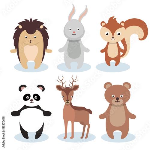 Canvas Prints Owls cartoon woodland animals wild icon vector illustration design
