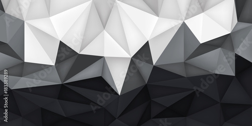 Low Polygon Shapes Transitions Light To Dark Background More