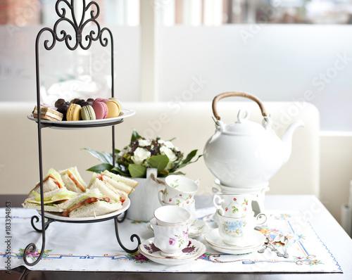 Fototapeta traditional English tea, high tea obraz