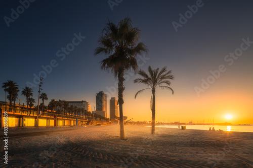 In de dag Barcelona Barceloneta Beach in Barcelona