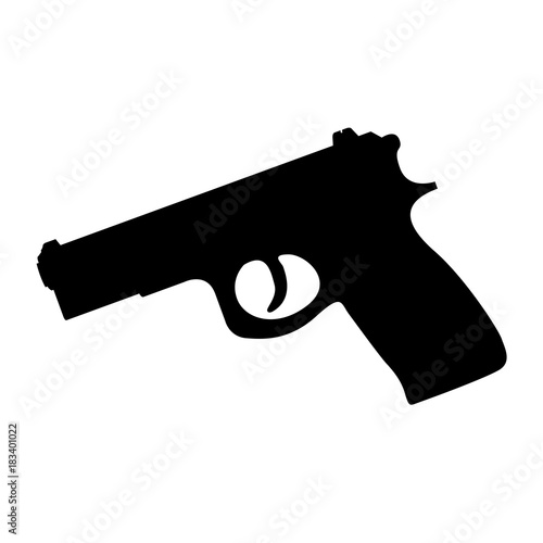 Photo  Isolated weapon silhouette