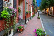 Beacon Hill Street, Boston Architecture