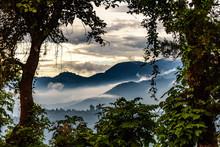 Misty Hills At Sunset, Guatemala