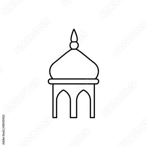 Fotografia mosque icon illustration