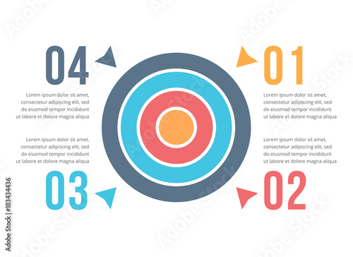 Target Infographics Canvas Print