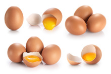 Eggs Isolated On White Backgro...