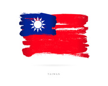 Flag Of Taiwan. Abstract Concept