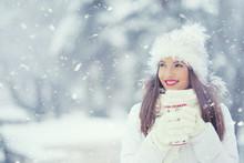 Beautiful Smiling Young Woman ...