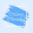 Merry Christmas. Blue background. Vector illustration