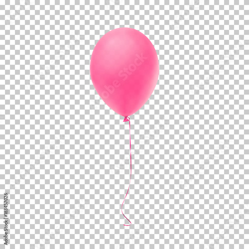 Photo  Realistic pink balloon.