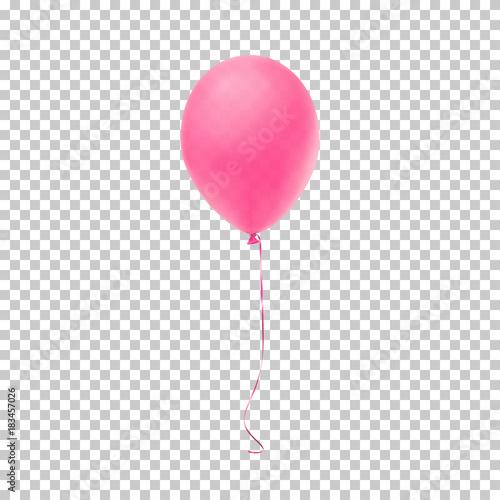 Realistic pink balloon. Wallpaper Mural