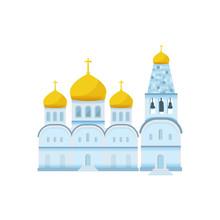 Flat Orthodox Christian Church Icon