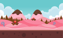 Chocolate Mountain Game Background