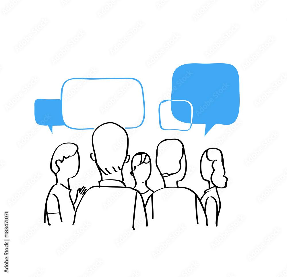 Fototapeta Discussione popolare