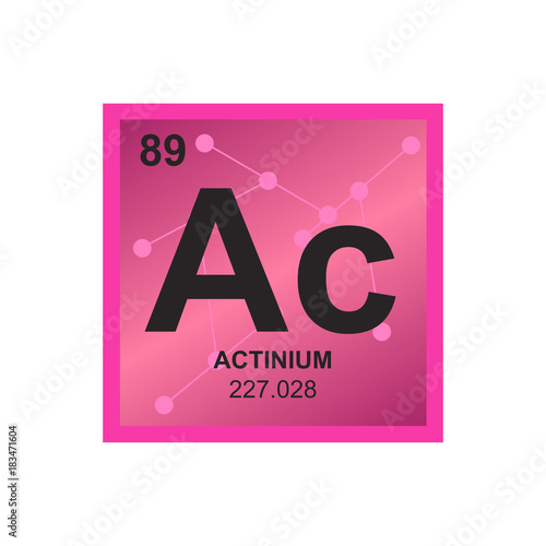 Vector symbol of Actinium from the Periodic Table of the elements on the backgro Wallpaper Mural