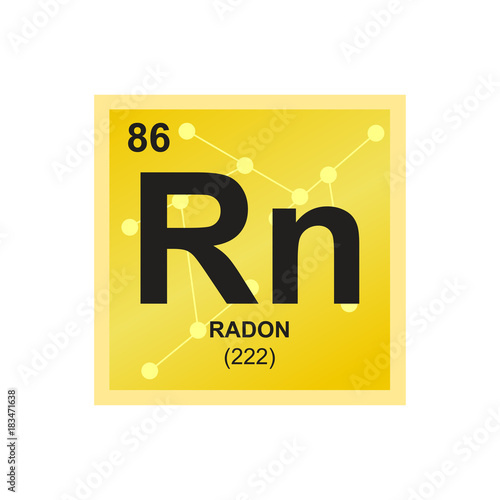 Vászonkép Vector symbol of Radon from the Periodic Table of the elements on the background