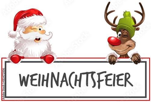 Weihnachtsfeier Cartoon.Rudolph Weihnachtsmann Weihnachtsfeier Buy This Stock Vector And
