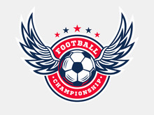 Soccer Football Logo, Emblem D...
